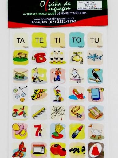 Tic-Tac - Figuras Adesivas: Fonema /t/ (Cód. 122 F)