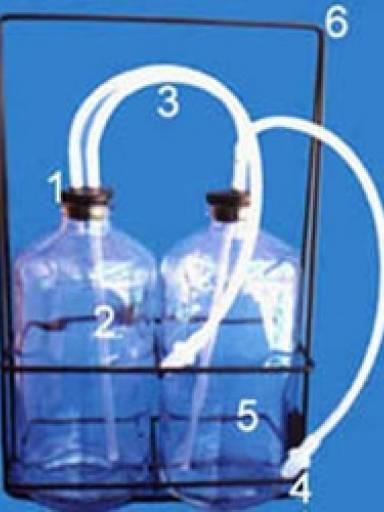 Garrafas Exercícios Respiratórios c/suporte